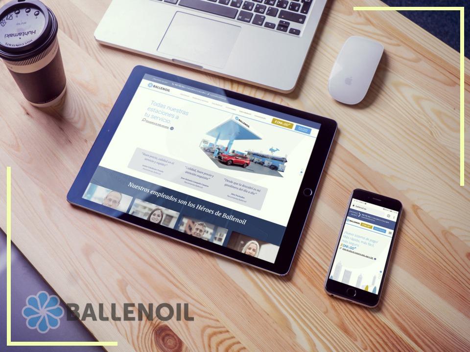 Ballenoil apuesta por la innovación con su nueva web